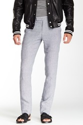Band Of Outsiders Printed Tapered Linen Trouser Gray
