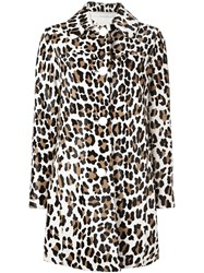 Drome Animal Print Coat Nude And Neutrals