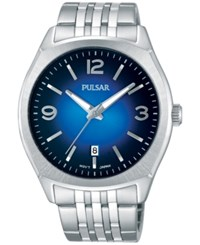 Pulsar Men's Traditional Stainless Steel Bracelet Watch 42Mm Ps9487 Silver