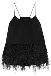 Tibi Feather Embellished Stretch Faille Camisole