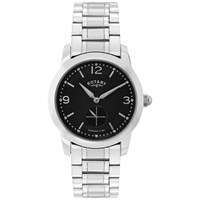 Rotary Gb02700 04 Men's Cambridge Stainless Steel Bracelet Strap Watch Silver Black