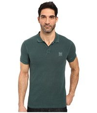 Boss Orange Pascha Slim Fit Saltwash Piquet Polo Green 1 Men's Short Sleeve Pullover
