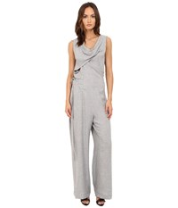 Vivienne Westwood Twisted Jumpsuit Grey Melange Women's Jumpsuit And Rompers One Piece Gray