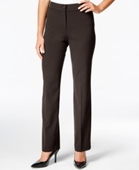 Jm Collection Petite Straight Leg Pants Only At Macy's Chocolate