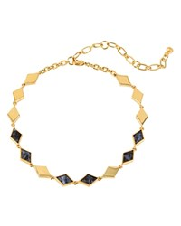 Charm And Chain Choker Necklace 12 Blue