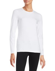 Lord And Taylor Petite Compact Tee White