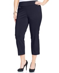 Alfani Plus Size Pull On Capri Pants Only At Macy's Modern Navy