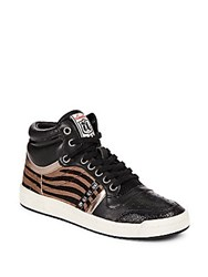 Ash Lace Up High Top Sneakers Black Multicolor