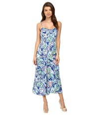 Lilly Pulitzer Marnee Jumpsuit Multi Hanging With Fronds Women's Jumpsuit And Rompers One Piece Blue