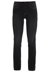 M A C Mac Dream Straight Leg Jeans Soft Black Used Black Denim