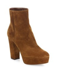 Gianvito Rossi Castexa Suede Platform Ankle Boots Brown