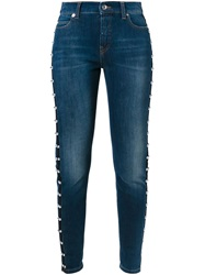 Mcq By Alexander Mcqueen Mcq Alexander Mcqueen Studded Skinny Jeans Blue