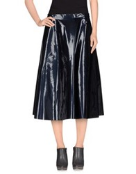 Roberto Collina 3 4 Length Skirts Dark Blue
