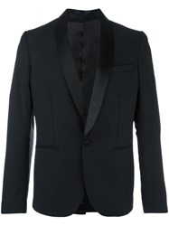 Christian Pellizzari Shawl Collar Blazer Black