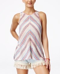American Rag Juniors' Sleeveless Lace Back Top Only At Macy's White Multi