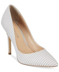 Charles By Charles David Pact Leather Pumps Women's Shoes Fog Striped