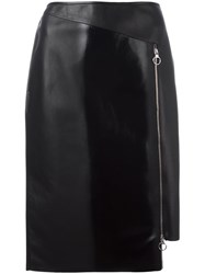 Versace Asymmetric Zip Skirt Black
