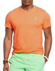 Polo Big And Tall Classic Fit Jersey V Neck T Shirt Orange