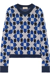 Temperley London Lia Jacquard Knit Merino Wool And Cashmere Blend Sweater