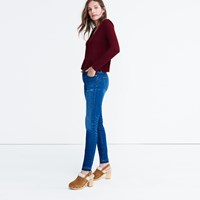 Madewell Knit Button Down Top Dusty Burgundy