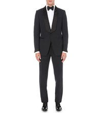Tom Ford Classic Fit Wool And Mohair Blend Tuxedo Navy