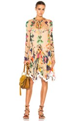 Chloe Technicolor Ink Blot Print Dress In Ombre And Tie Dye Neutrals Abstract Ombre And Tie Dye Neutrals Abstract