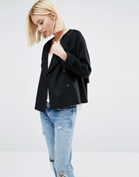 Selected Dana Short Coat In Felt Wool Black