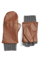 Echo Women's Touch Glitten Knit And Leather Gloves Saddle