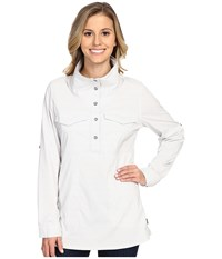 Mountain Hardwear Citypass Long Sleeve Popover White Women's Long Sleeve Button Up