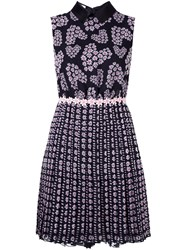 Giamba Floral Print Sleeveless Dress Black