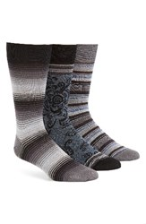 Bugatchi Men's Assorted 3 Pack Mercerized Cotton Blend Socks