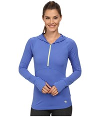 Mountain Hardwear Butterlicious Long Sleeve Hoodie Bright Bluet Women's Sweatshirt