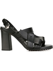 Tod's Bow Detail Sandals Black