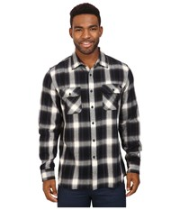 Rip Curl Zarco Long Sleeve Flannel Black Men's Clothing