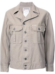 Theatre Products Peaked Lapel Overshirt Brown