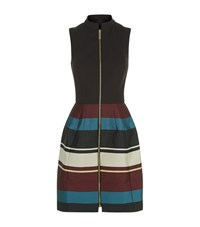 Ted Baker Persis Stripe Zip Front Dress Female Black