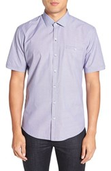Zachary Prell Men's 'Gilles' Trim Fit Short Sleeve Sport Shirt