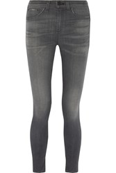 Rag And Bone Rag And Bone Mid Rise Skinny Jeans Dark Gray