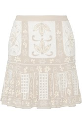 Needle And Thread Embellished Chiffon Mini Skirt Mushroom