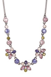 Givenchy Multi Color Crystal Necklace Purple