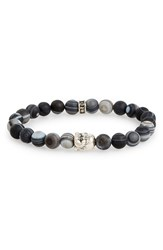 Men's Room 101 Frosted Agate Buddha Bead Bracelet