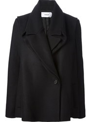 Chalayan Single Breasted Coat Black
