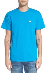 The Rail Men's Crewneck T Shirt With Embroidery Teal Howl At The Moon