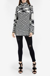 Missoni Multi Stripe Oversized Sweater Black