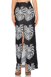 Solace London Cassie Maxi Skirt Black And White