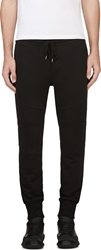 Markus Lupfer Black Skull Embroidered Biker Lounge Pants