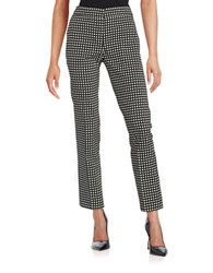 Nipon Boutique Checkered Cropped Dress Pants Black White