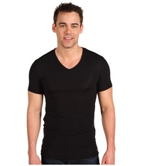 Calvin Klein Underwear Body Micro Modal S S V Neck U5563 Black Men's Short Sleeve Pullover