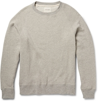 Billy Reid Textured Cotton Blend Sweatshirt Gray