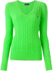 Polo Ralph Lauren Cable Knit Sweater Green